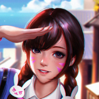 D.Va School uniforms