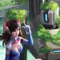 D.Va and Bastion