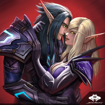 ...Commission: Blood Elf Couple...