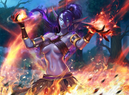 Void Elf Firestorm commission